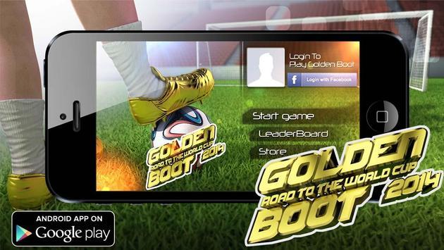 Golden Boot - Brazil 2014 poster