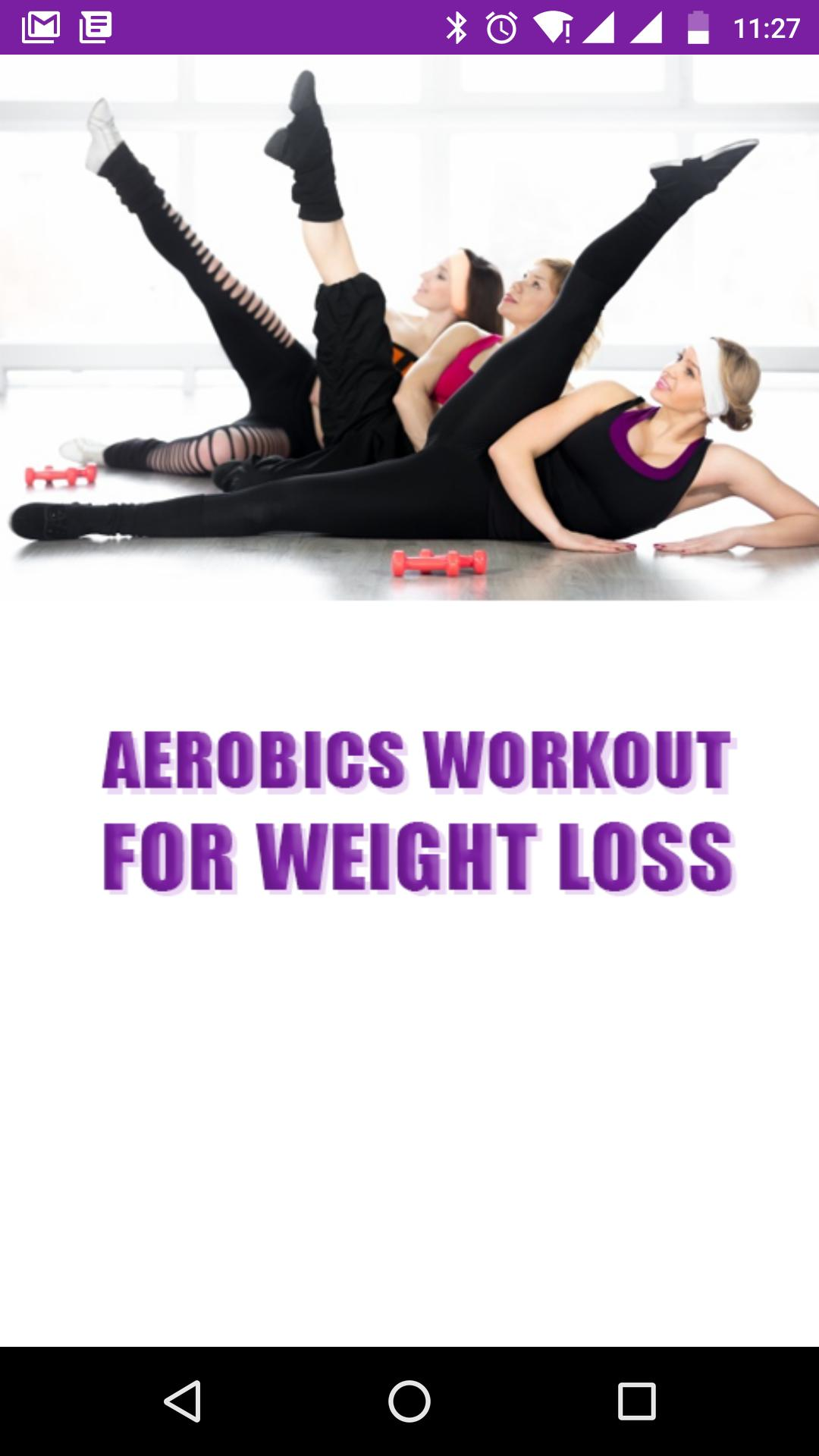 Aerobics Exercise For Weight Loss Workout Videos For Android Apk Download