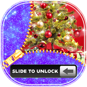 Christmas Zipper Lock Theme icon