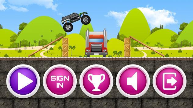 Monster Trucks Game For Kids 3 poster