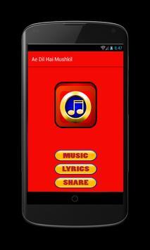 Ae Dil Hai Mushkil Movie Songs poster