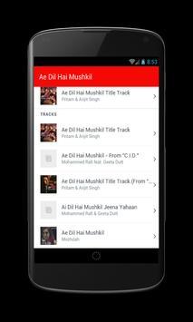 Ae Dil Hai Mushkil Movie Songs screenshot 2