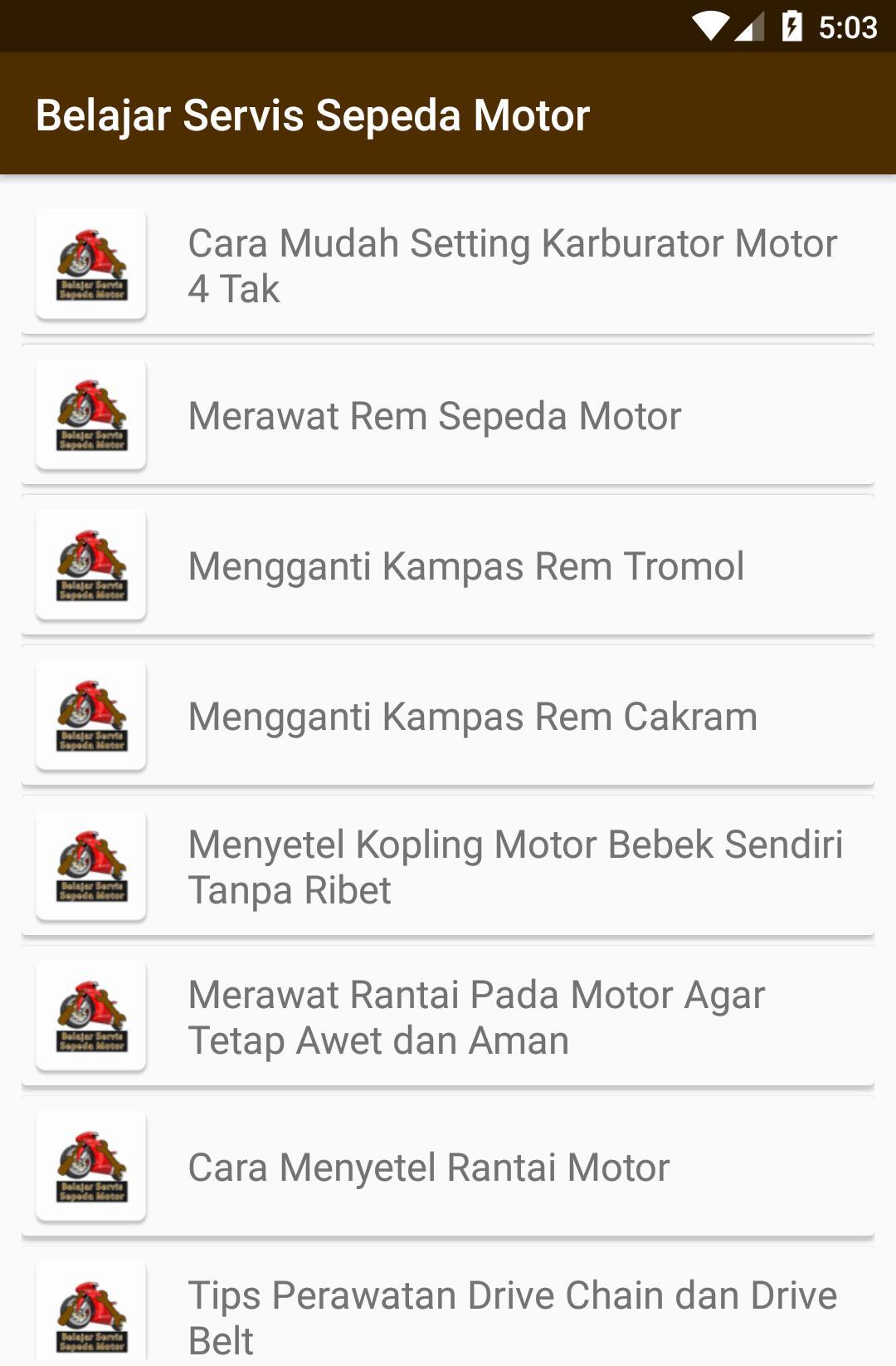 Belajar Servis Sepeda Motor For Android Apk Download
