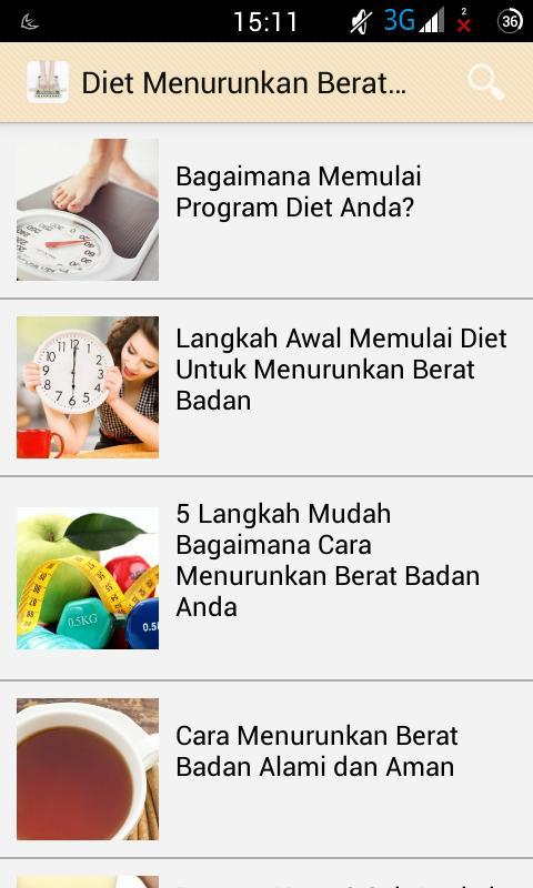 Diet Menurunkan Berat Badan Para Android Apk Baixar