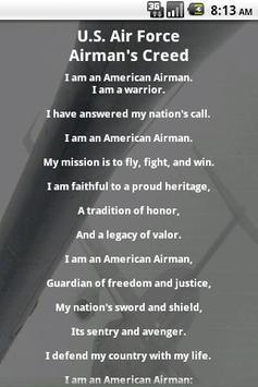 Us air force airmans creed apk download free lifestyle app for us air force airmans creed poster altavistaventures Images