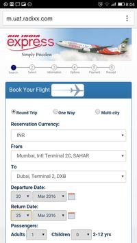 Air India Express screenshot 1