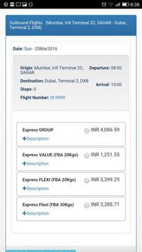 Air India Express screenshot 2