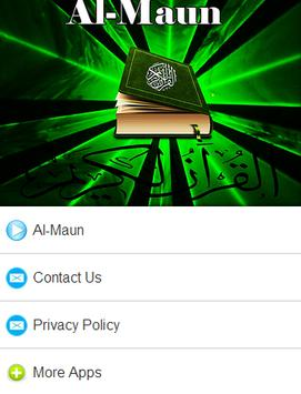 Surah Al - Maun Mp3 poster