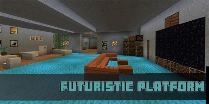 Futuristic Platform Map for MCPE poster