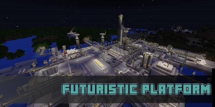 Futuristic Platform Map for MCPE screenshot 1
