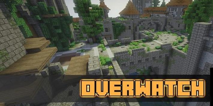 Map Overwatch for Minecraft poster