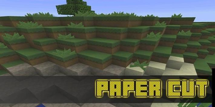 Paper Cut-Out Texture for MCPE poster