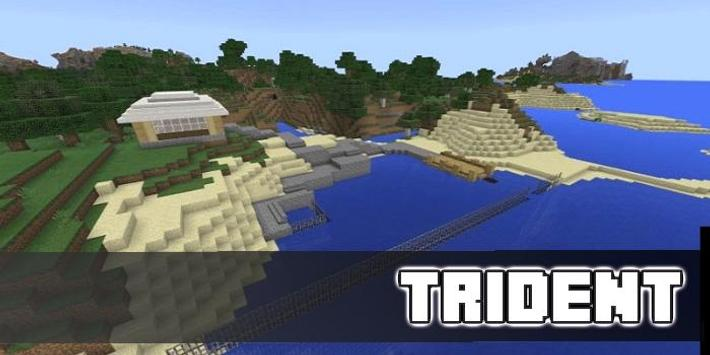 Trident Enchantments World Map for MCPE poster