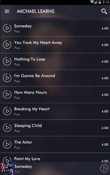 All Songs MICHAEL LEARNS screenshot 7