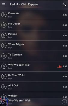 All Songs Red Hot Chili Peppers 2017 apk screenshot
