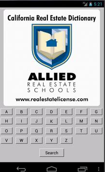 CA Real Estate Dictionary poster