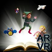 Doll play books AR VR icon