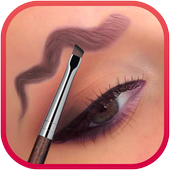squiggly eyebrows makeup icon