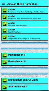 Amalan Bulan Ramadhan screenshot 24