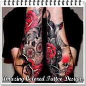Amazing Colored Tattoo Designs icon