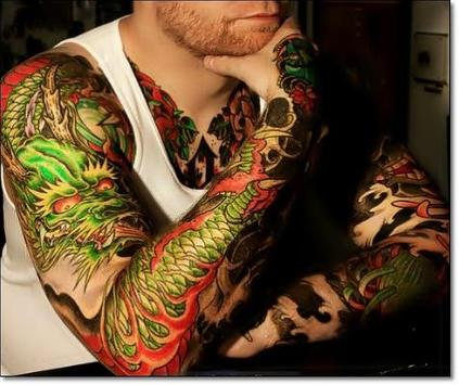 Amazing Colored Tattoo Designs poster