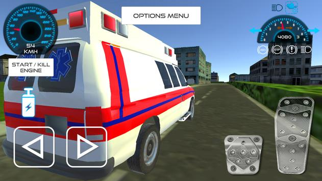 Ambulance Driving Simulation poster