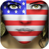 America Flag-Face Masquerade icon
