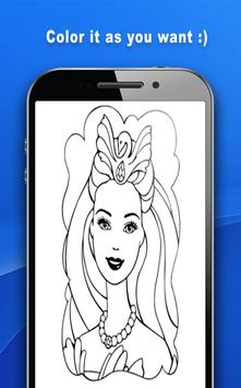 Coloring Book For Barbie screenshot 2