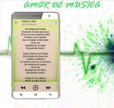 Adexe y Nau Sólo Amigos Letra apk screenshot