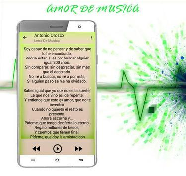 Antonio Orozco Mi Héroe Canciones 2017 apk screenshot