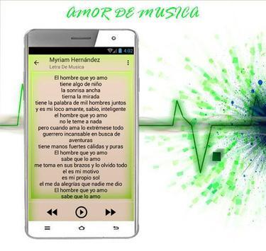 Myriam Hernández El Hombre que yo amo apk screenshot