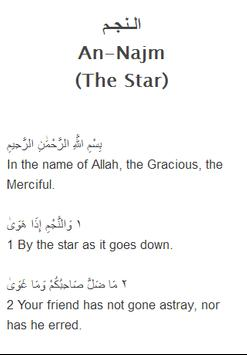 Surah An - Najm Mp3 apk screenshot