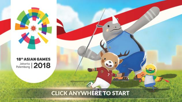 18th Asian Games 2018 Official Game poster