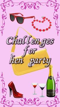 Challenges for hen party Dare poster