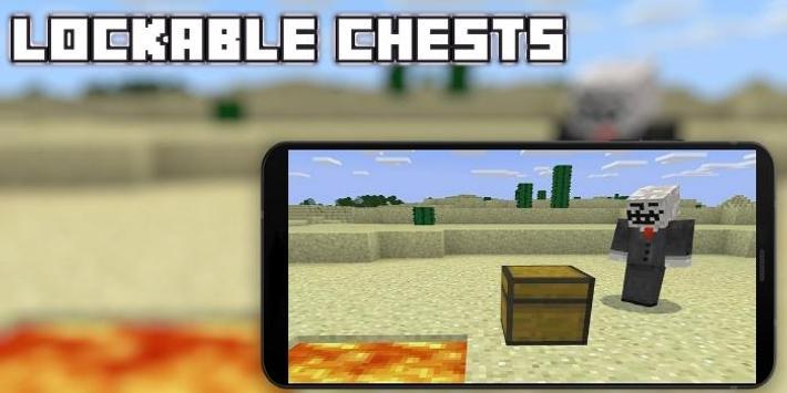 Lockable Chests Mod for MCPE apk screenshot