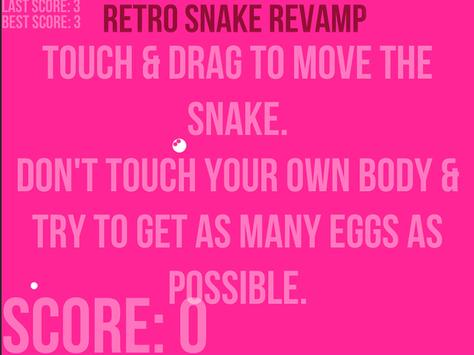Retro snake revamp - Eat Eggs screenshot 7