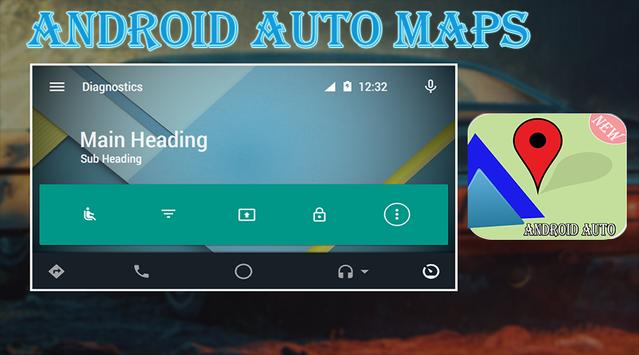 Guide for Android Auto Maps Media Messaging Voice poster