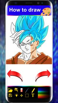 How to Draw : Dragon Ball Super Saiyan step by stp poster