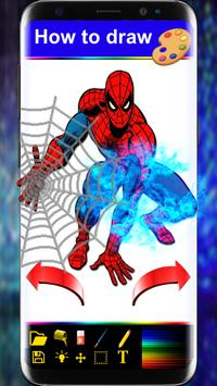 Drawing Book For Spider-man step by step poster