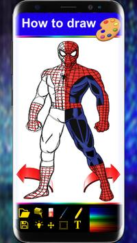 Drawing Book For Spider-man step by step apk screenshot