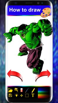 How to Drawing Book For SuperHeroes step by step poster