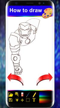 How to Drawing Book For SuperHeroes step by step apk screenshot
