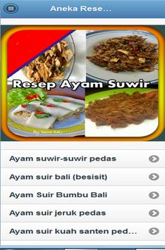 Aneka Resep Ayam Suwir screenshot 9
