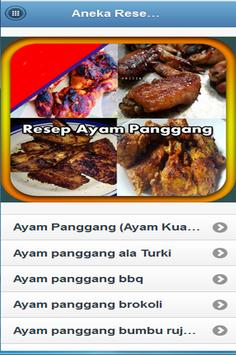 Aneka Resep Ayam Panggang poster