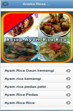 Aneka Resep Ayam Rica Rica poster
