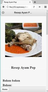 Aneka Resep Masak Ayam apk screenshot