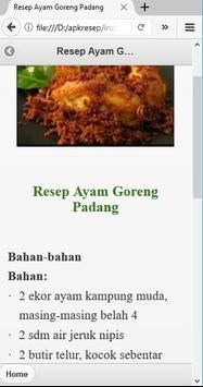 Aneka Resep Masak Ayam poster