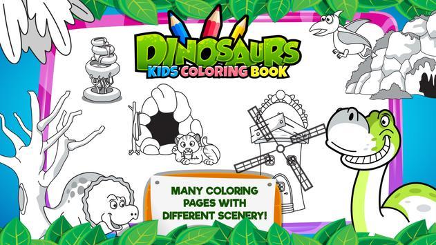 Dinosaurs Kids Coloring Book Apk Screenshot