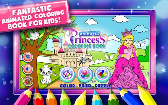 Princess Coloring Book Games Poster