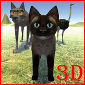Animated 3d pets for kids icon